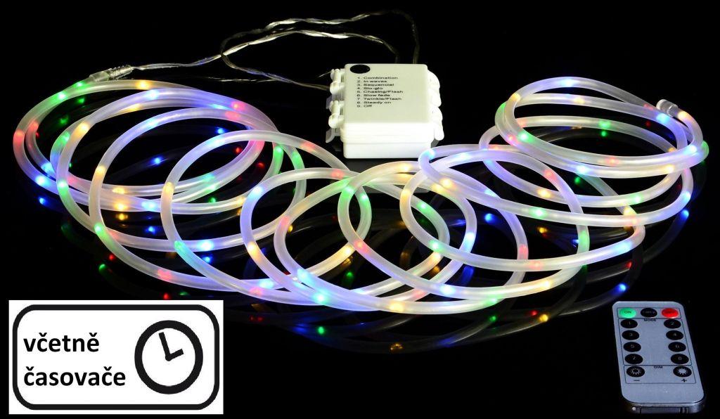 Vianočné LED osvetlenie - MINI kábel - 5 m farebné