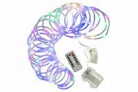 Vianočné LED osvetlenie - MINI kábel - 10 m farebné