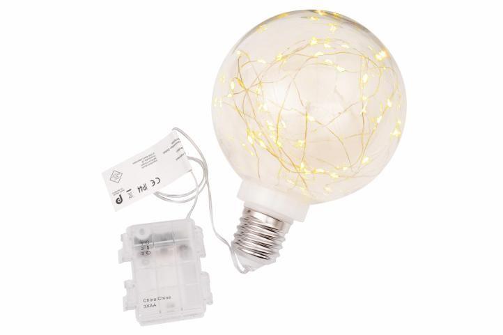 Vianočná dekorácia - žiarovka - 40 LED teplá biela