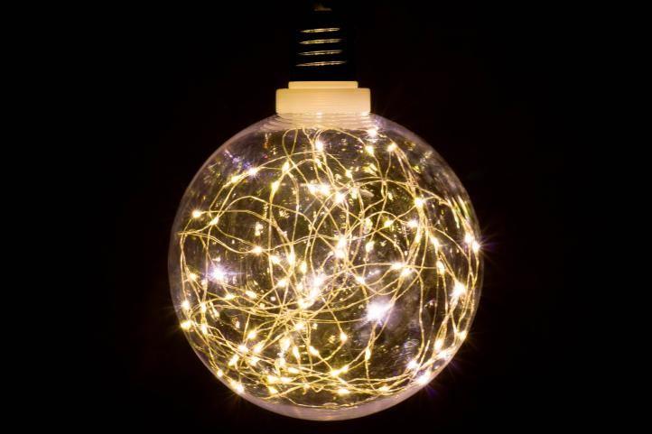 Vianočná dekorácia - žiarovka - 80 LED teplá biela