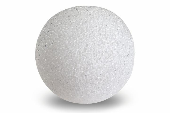 Svetelná dekorácia - LED svietiaca guľa - 12 cm teplá biela