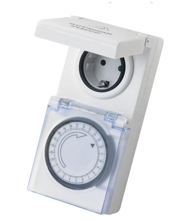 Mechanický časovač do zásuvky - IP 44