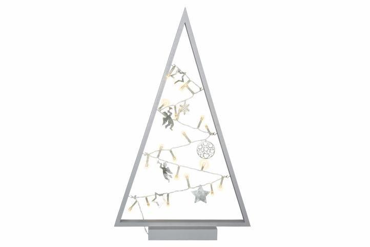 Svetelná dekorácia sivá - Vianoce - 20 LED teplá biela