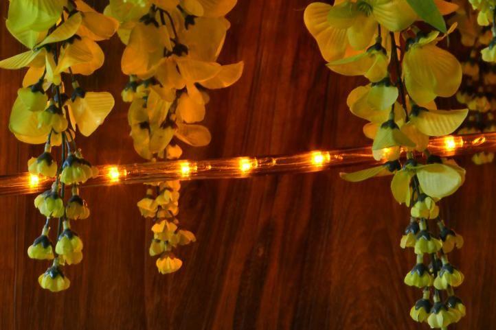 LED svetelný kábel - 480 diód, 20 m, žltý