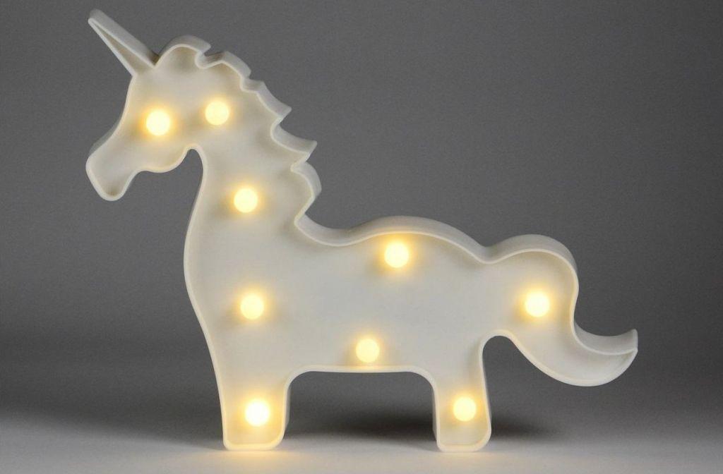 Vianočné dekoratívne osvetlenie - jednorožec - 9 LED teplá biela