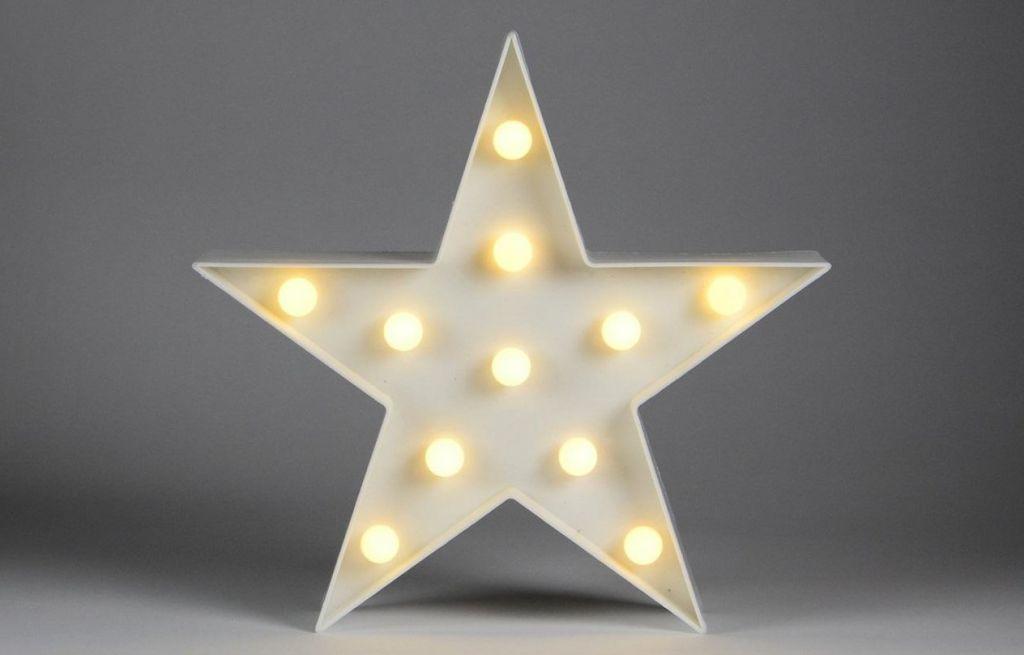 Vianočné dekoratívne osvetlenie - hviezda - 11 LED teplá biela