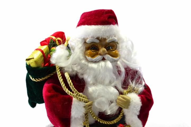 Vianočná dekorácia - tancujúci a spievajúci Santa Claus