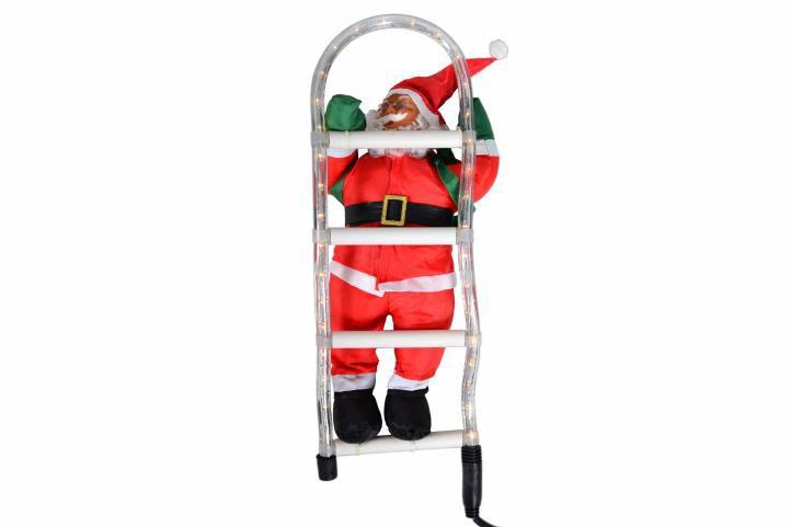Santa Claus na rebríku
