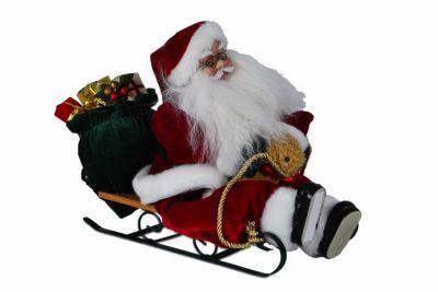 Vianočné dekorácie - Santa Claus na saniach