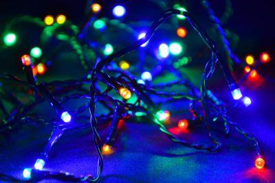 Vianočné LED osvetlenie 10 m - farebné, 100 diód