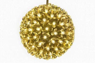 LED svetelná guľa - teple biela