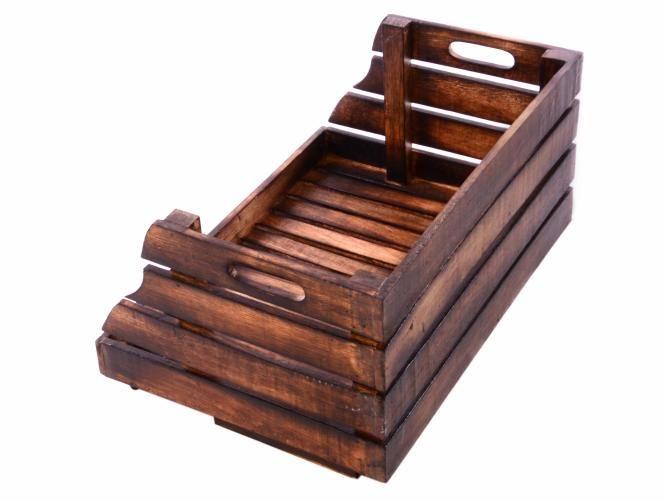 Stohovateľná drevená debnička DIVERO vintage