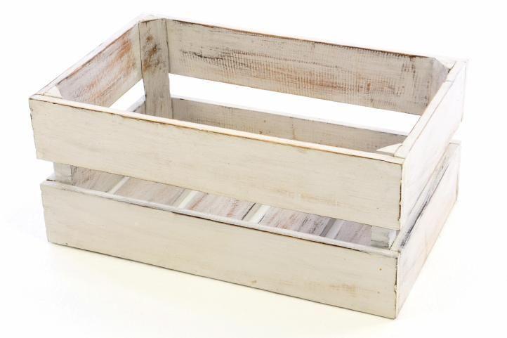 DIVERO Vintage debna, biela, 47 cm x 29,5 cm