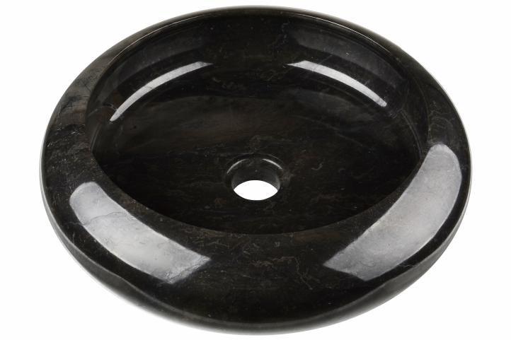 DIVERO umývadlo z prírodného kameňa Black