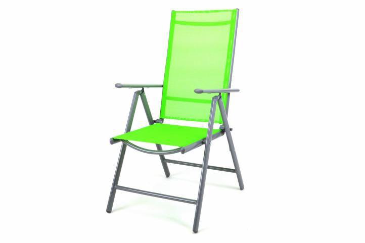 Záhradná skladacia stolička - zelená
