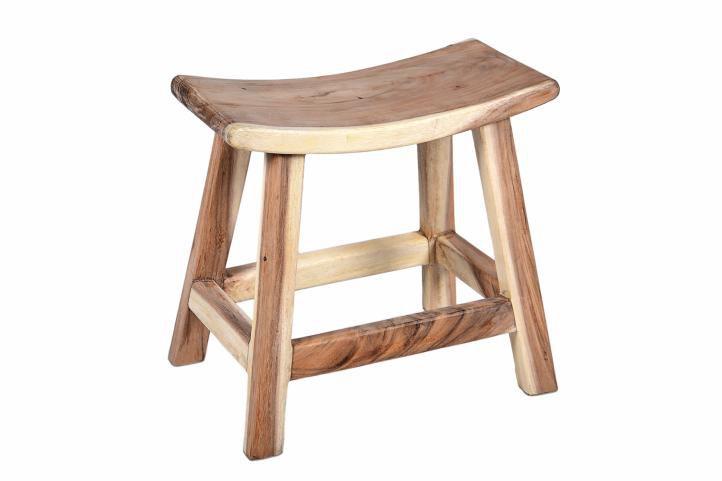 Stolička divero z masívneho Suara dreva