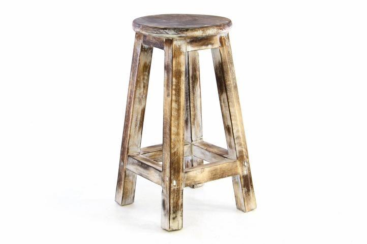 Designová vintage stolička opálená - 50 cm