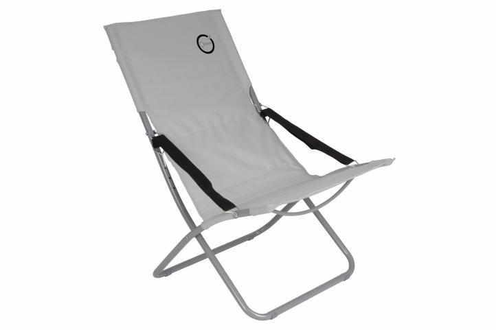 Skladacia kempingová stolička - sivá
