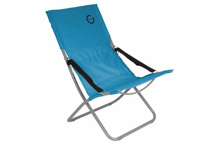 Skladacia kempingová stolička - tyrkysová
