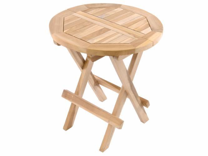 Záhradný odkladací stolík DIVERO z teakového dreva