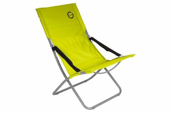 Skladacia kempingová stolička - svetlozelená