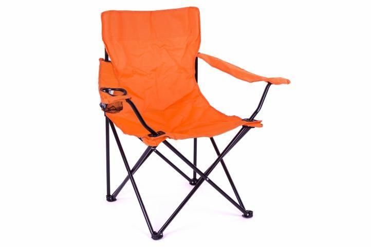 Skladacia kempingová stolička s opierkou, držiakom a taškou