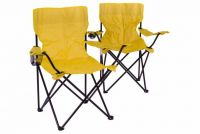 Sada skladacích kempingových stoličiek s opierkou, držiakom