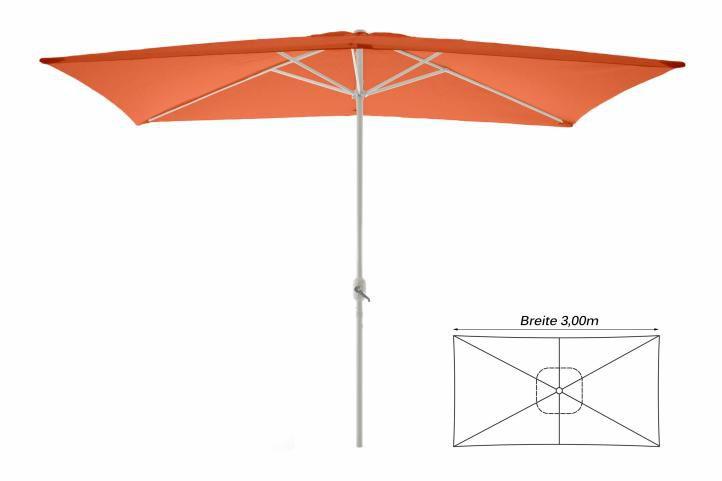Slnečník obdĺžnikový 2 x 3 m - terakota