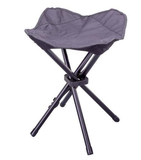 Malá skladacia kempingová stolička - čierna
