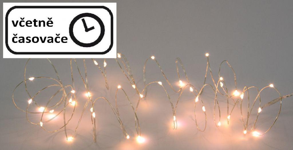 Vianočné LED osvetlenie 8 m - 60 LED, teplá biela