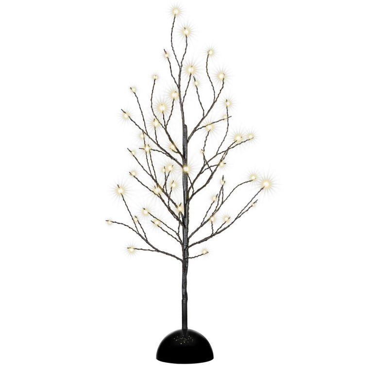 Dekoratívny LED svetelný strom so 48 LED, 60 cm - čierny