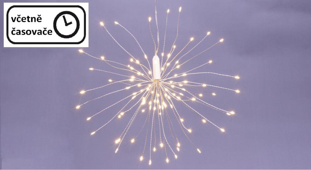 Vianočné osvetlenie meteorický dážď - 100 LED, teplá biela