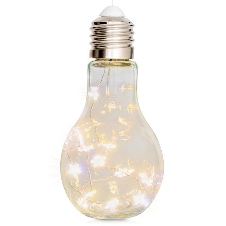 Dekoračné vianočné osvetlenie - žiarovka, 10 LED