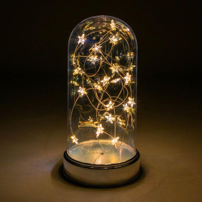 Vianočná svietiaca dekorácia kupola - 20 LED, teple biela