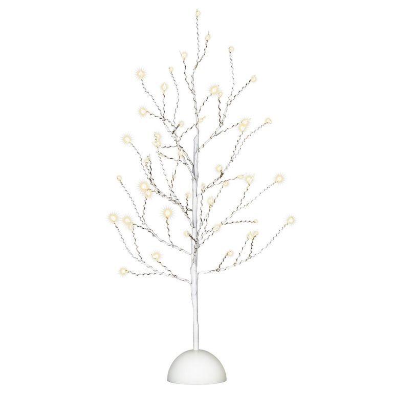Dekoratívne LED osvetlenie strom - 32 LED, 40 cm, biely