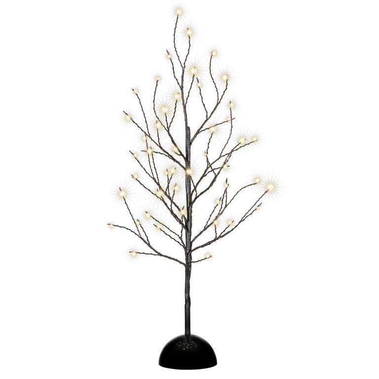 Dekoratívny LED svetelný strom s 32 LED, 40 cm - čierny