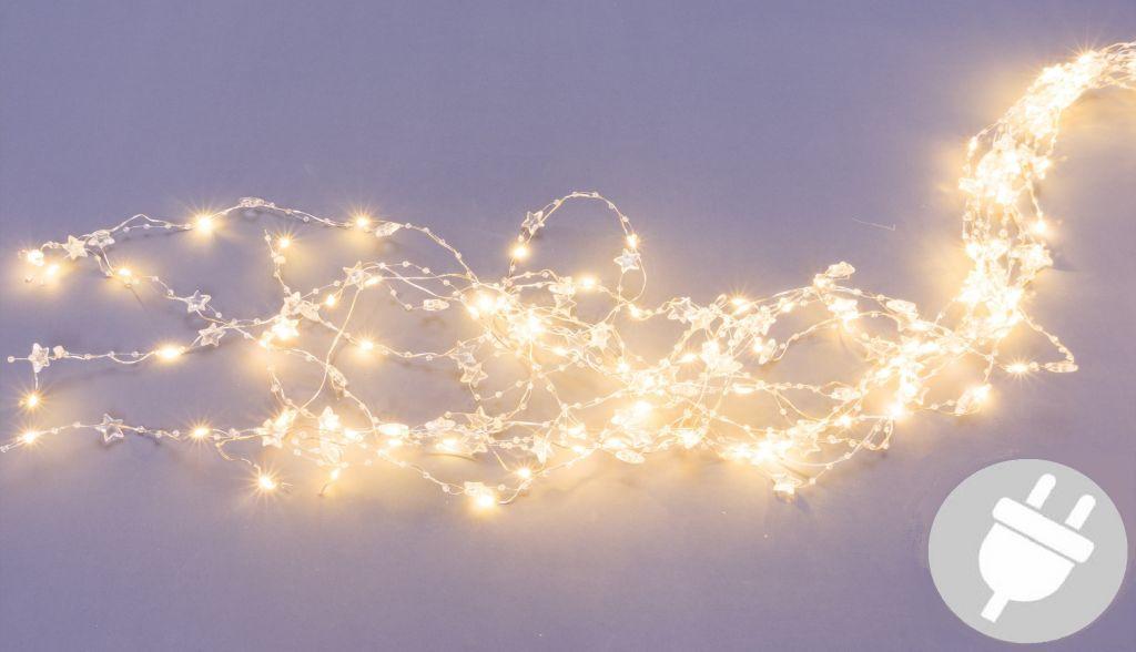Dekoratívne osvetlenie perly a hviezdy - 200 LED