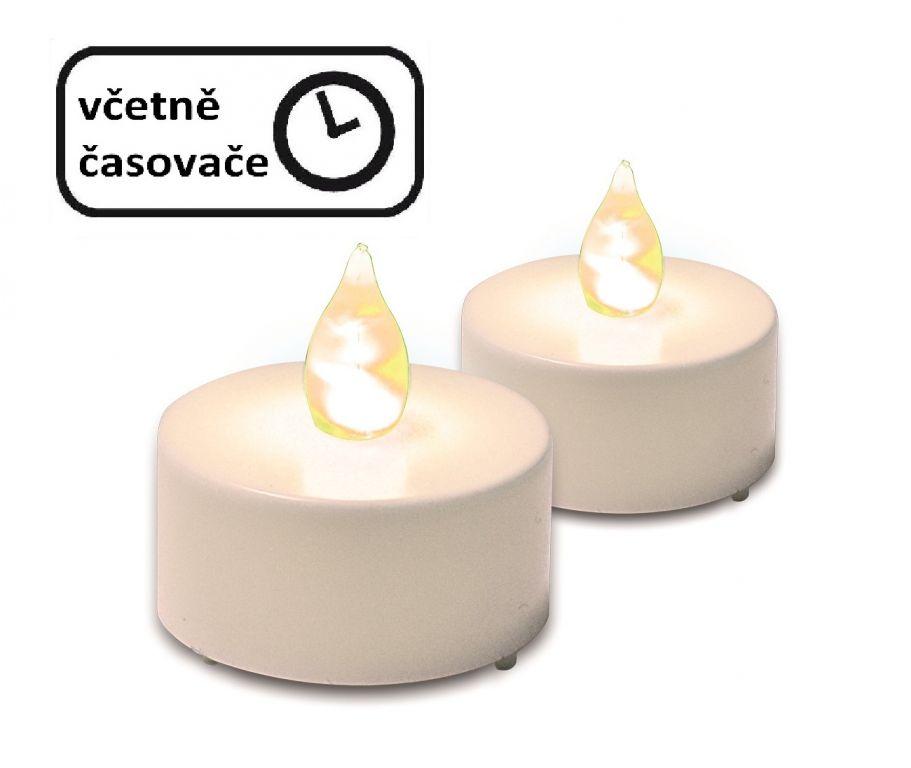 Dekoratívna sada - 2 čajové sviečky s časovým spínačom