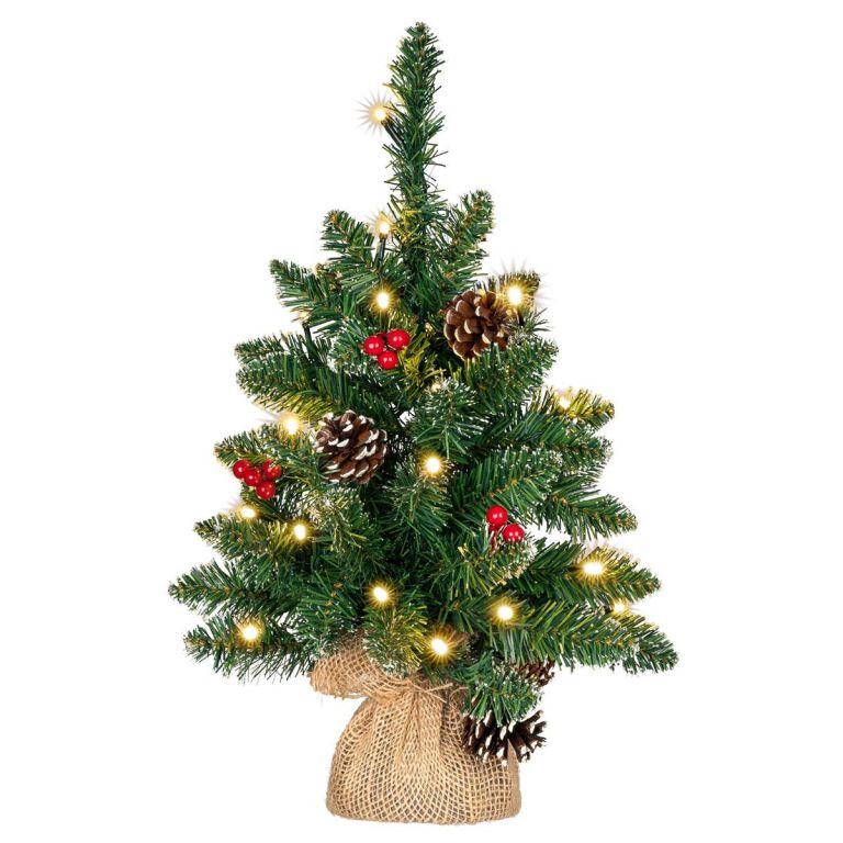 Vianočný stromček s osvetlením - 45 cm, 20 LED