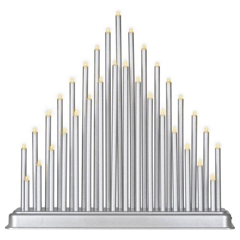 Vianočná dekorácia svietnik, 33 LED
