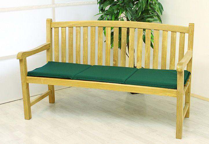 Vysoko kvalitný sedák na trojmiestnu lavicu - záhradne zelené