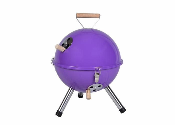 Záhradný vonkajší Mini BBQ gril - fialový
