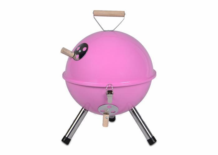 Záhradný vonkajší Mini BBQ gril ružový