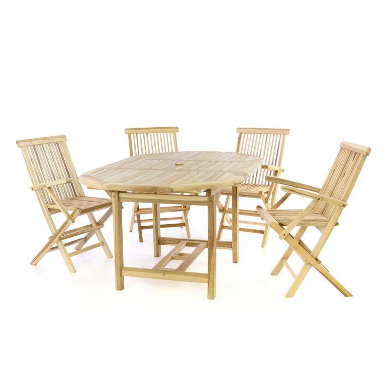 Záhradná súprava - rozťahovací stôl, 4 stoličky