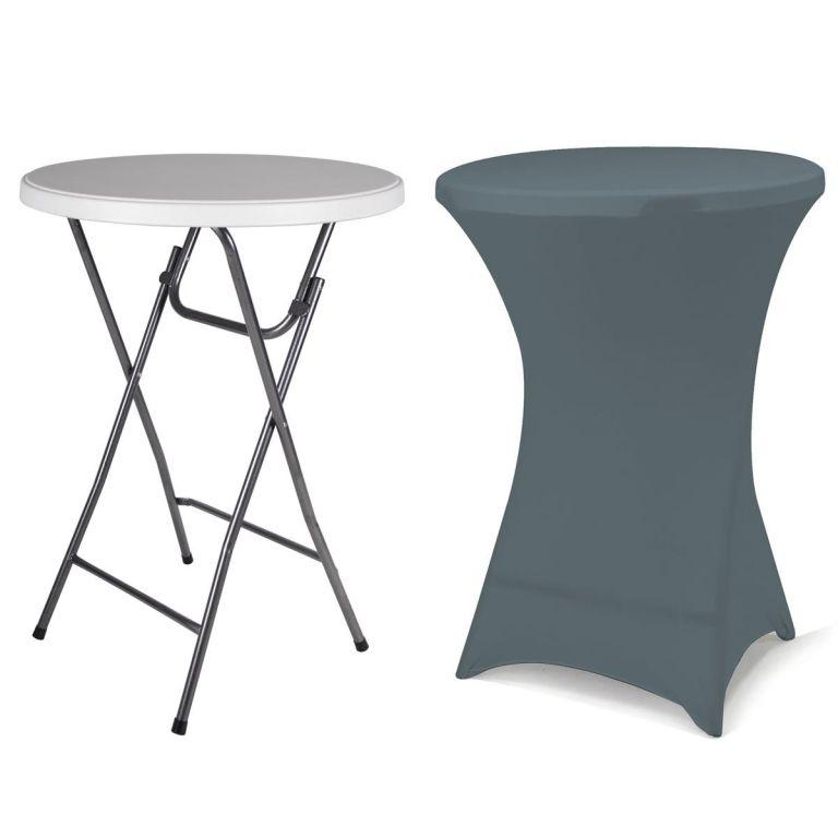 Párty stolík BISTRO skladací vrátane elastického poťahu