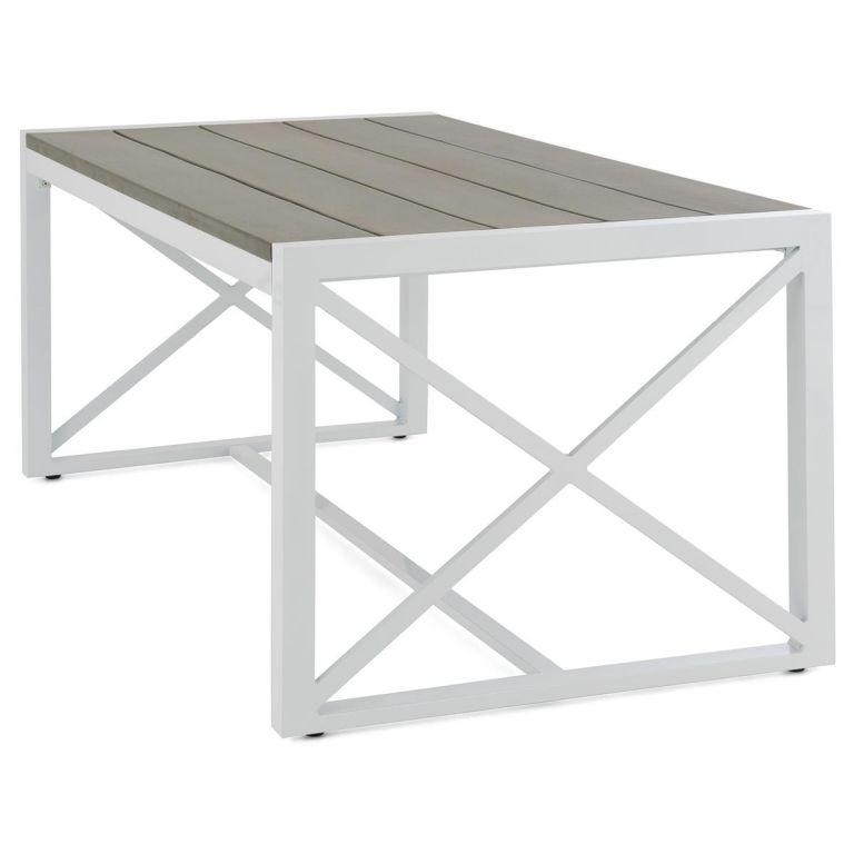 Záhradný hliníkový stôl - 160 x 92 x 73 cm