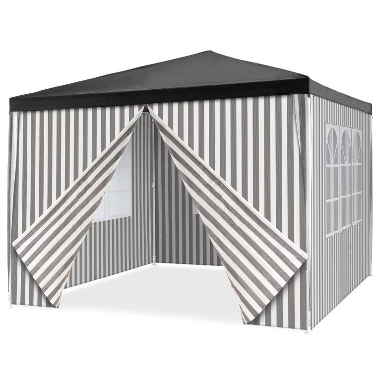 Záhradný stan + 4 bočnice - 3 x 3 m, antracit