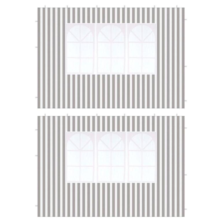 Sada dvoch bočníc s oknom - 3 m, antracit, 100 g / m²