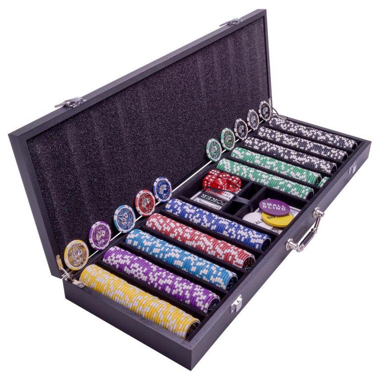 Pokrový set s kufríkom - 500 žetónov