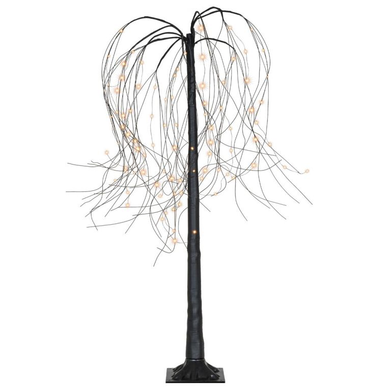 Vianočná dekorácia - svetelný strom - smútočná vŕba, 150 cm